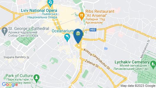 Ibis Styles Lviv Center Map