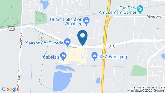 Hilton Garden Inn Winnipeg South Map