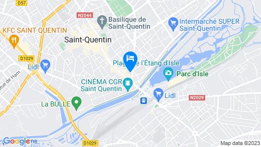 ibis budget Saint-Quentin Centre Gare Map