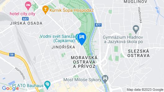 Hotel Villa Ostrava Map