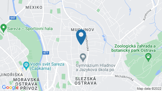 House With 2 Bedrooms in Slezská Ostrava, With Enclosed Garden and Wifi Map