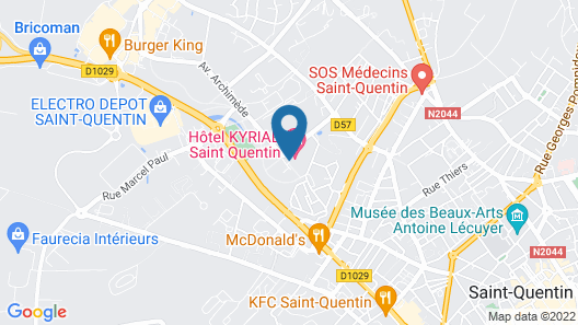 Hôtel Kyriad Saint-Quentin Map