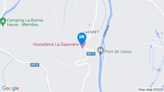 Hostellerie la Sapinière Map