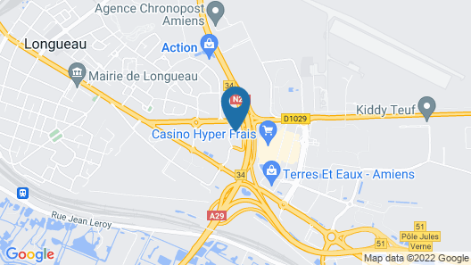 Hotel Campanile Amiens - Glisy Map