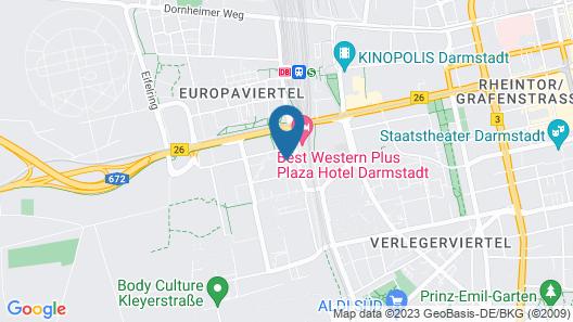 Moxy Darmstadt Map
