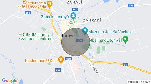 Judia Apartment IN Litomysl Map