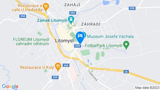 Antik Hotel Sofia Litomysl Map