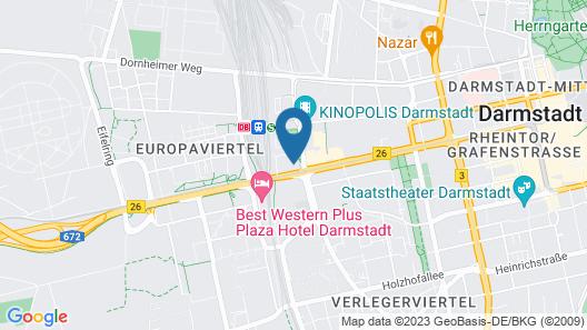 Maritim Hotel Darmstadt Map