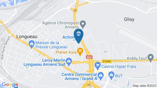 B&B Hotel Amiens Map