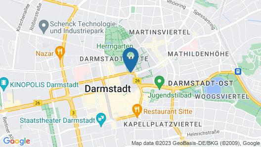 Welcome Hotel Darmstadt Map