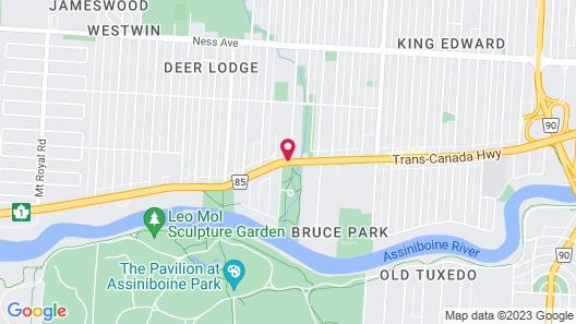 Assiniboine Gordon Inn on the Park Map