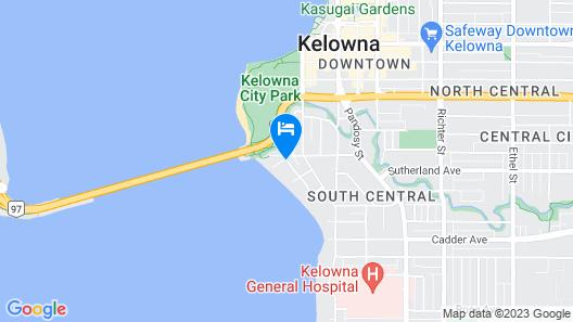 At the Beach Kelowna Bed & Breakfast Map
