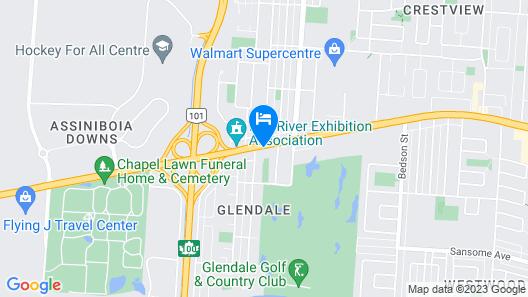 Super 8 by Wyndham Winnipeg West Map