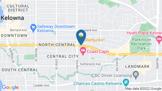 Accent Inns Kelowna Map