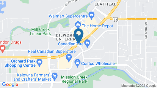 Best Western Plus Kelowna Hotel & Suites Map