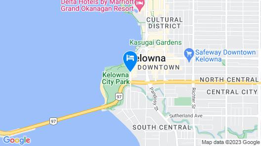 Hotel Zed Kelowna Map