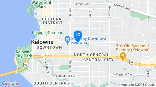 Downtown Kelowna house a few blocks from Okanagan lake beaches Map