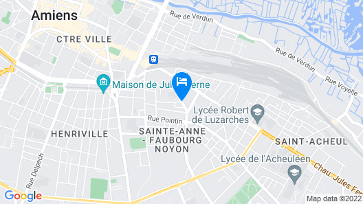 Odalys City Amiens Blamont Map