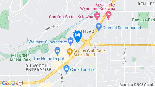 Holiday Inn Express & Suites Kelowna - East Map