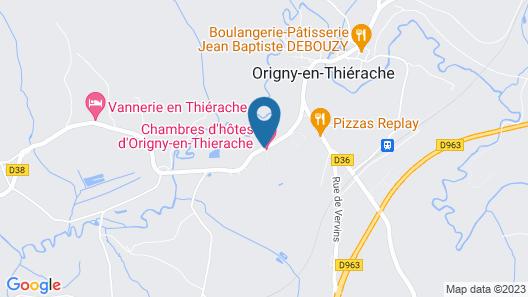Chambres d'hôtes d'Origny-en-Thierache Map
