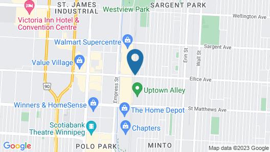 Fairfield Inn & Suites by Marriott Winnipeg Map