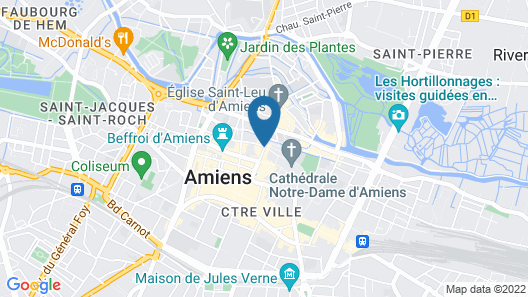 Mercure Amiens Cathedrale Map