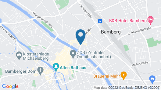 Best Western Hotel Bamberg Map