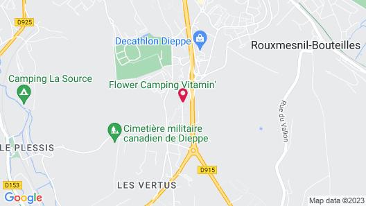 Hotel Inn Design Dieppe Map