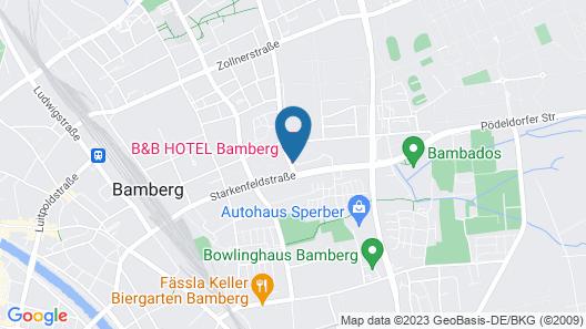 B&B Hotel Bamberg Map