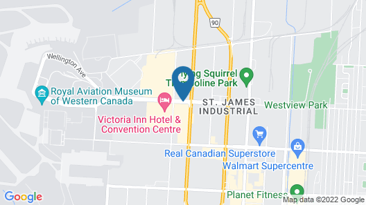 Hampton Inn by Hilton Winnipeg Airport/Polo Park, MB, Canada Map