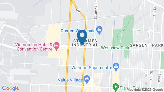 Best Western Plus Winnipeg Airport Hotel Map