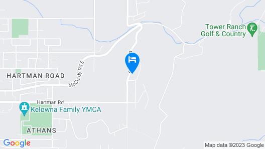 John 3:16 Vacation Studio Apartment, Kelowna Map