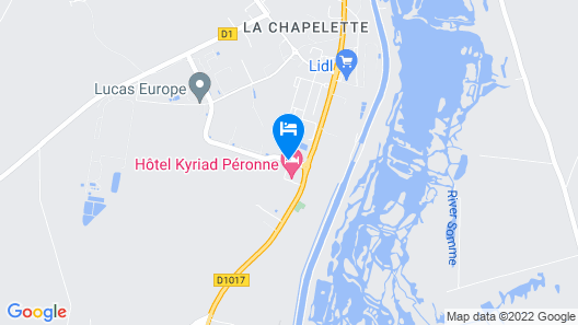 Kyriad Peronne Map