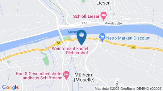Weinromantikhotel Richtershof Map