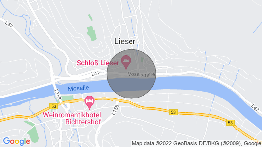 Modern bright apartment in Lieser, Mosel and castle nearby. Map