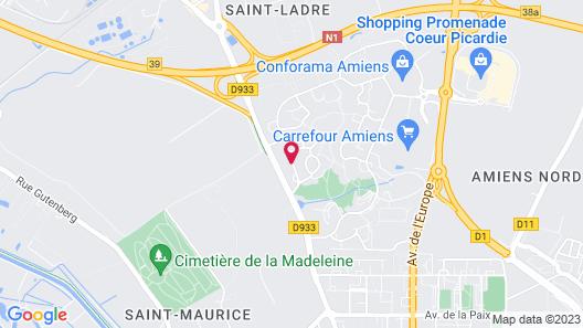 Premiere Classe Amiens Map