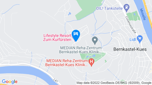 LIFESTYLE Resort Zum Kurfürsten Map
