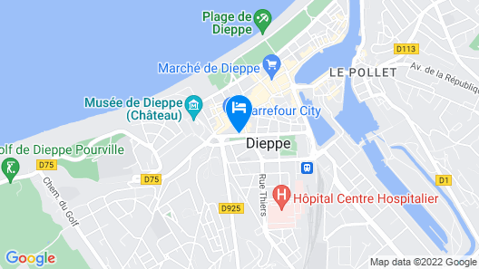 Egg Hotel Dieppe Centre Ville Map
