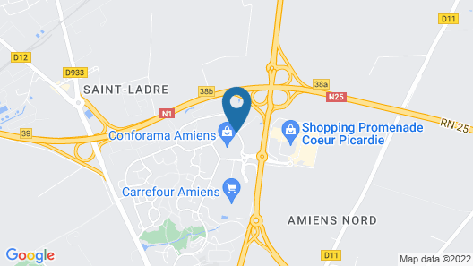 Comfort Hotel Amiens Nord Map