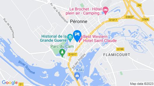 Best Western Hotel Saint Claude Map