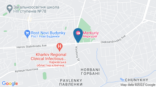 Mercury Hotel Map