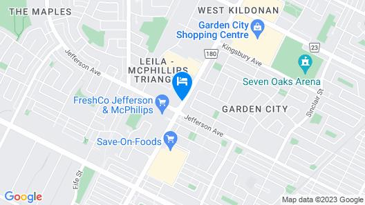 Canad Inns Destination Centre Garden City Map