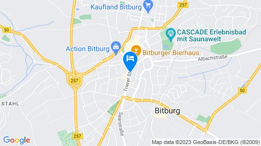 Hotel Bitburger Hof  Map
