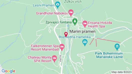 OREA Spa Hotel Bohemia Mariánské Lázně Map