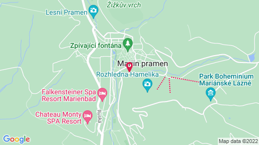 Ensana Nove Lazne Map
