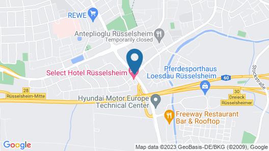 Select Hotel Rüsselsheim Map
