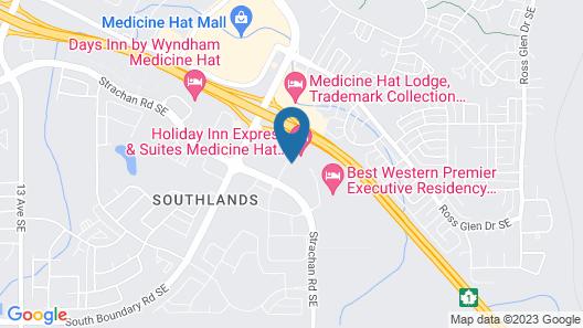 Holiday Inn Express & Suites Medicine Hat Transcanada Hwy 1, an IHG Hotel Map