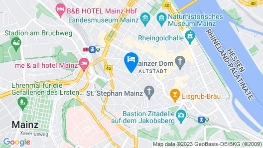 Hilton Mainz City Map