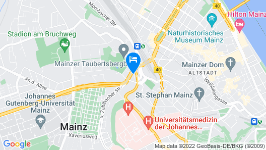 me and all hotel mainz  Map