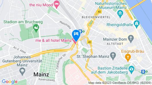 IntercityHotel Mainz Map